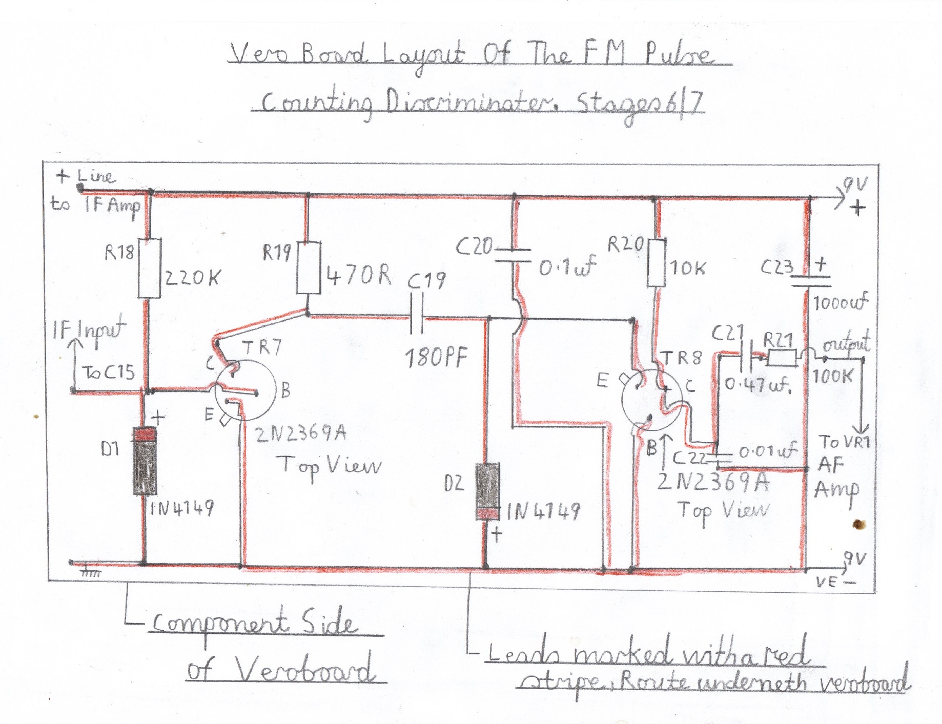 hight resolution of wiring diagram of the pulse counting fm discriminator this stage must be wired and tested after the audio stage is known to work ok