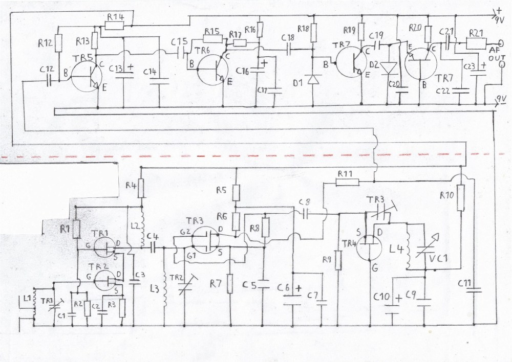 medium resolution of printable circuit diagram of the fm tuner please refer to the components list in the text