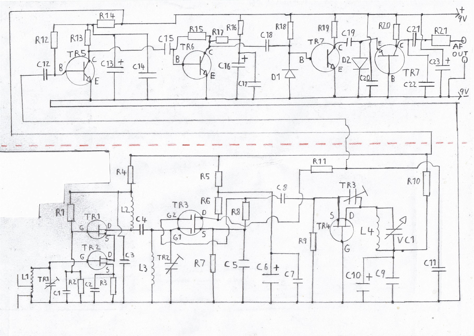 hight resolution of printable circuit diagram of the fm tuner please refer to the components list in the text