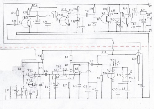 small resolution of printable circuit diagram of the fm tuner please refer to the components list in the text