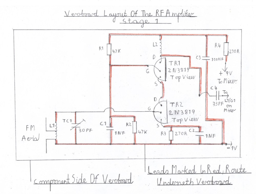 medium resolution of wiring diagram of the rf amplifier this stage is wired and tested after the vhf receiver is known to work ok this now completes the constuction