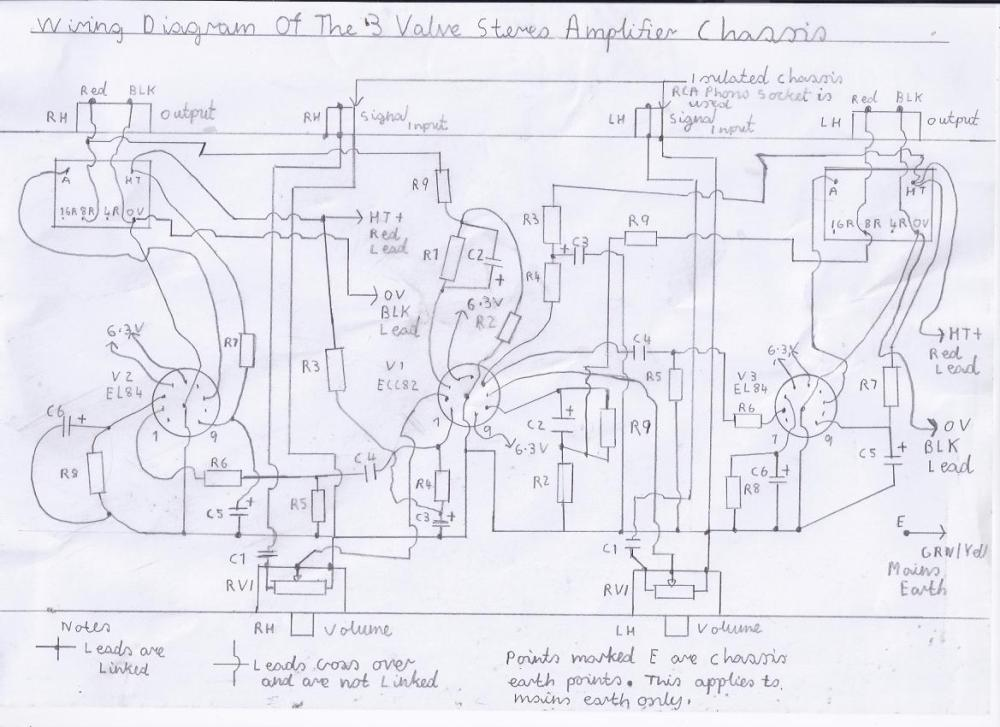 medium resolution of wiring diagram of the 3 valve stereo amplifier chassis please refer to picture 1 and components list for component values