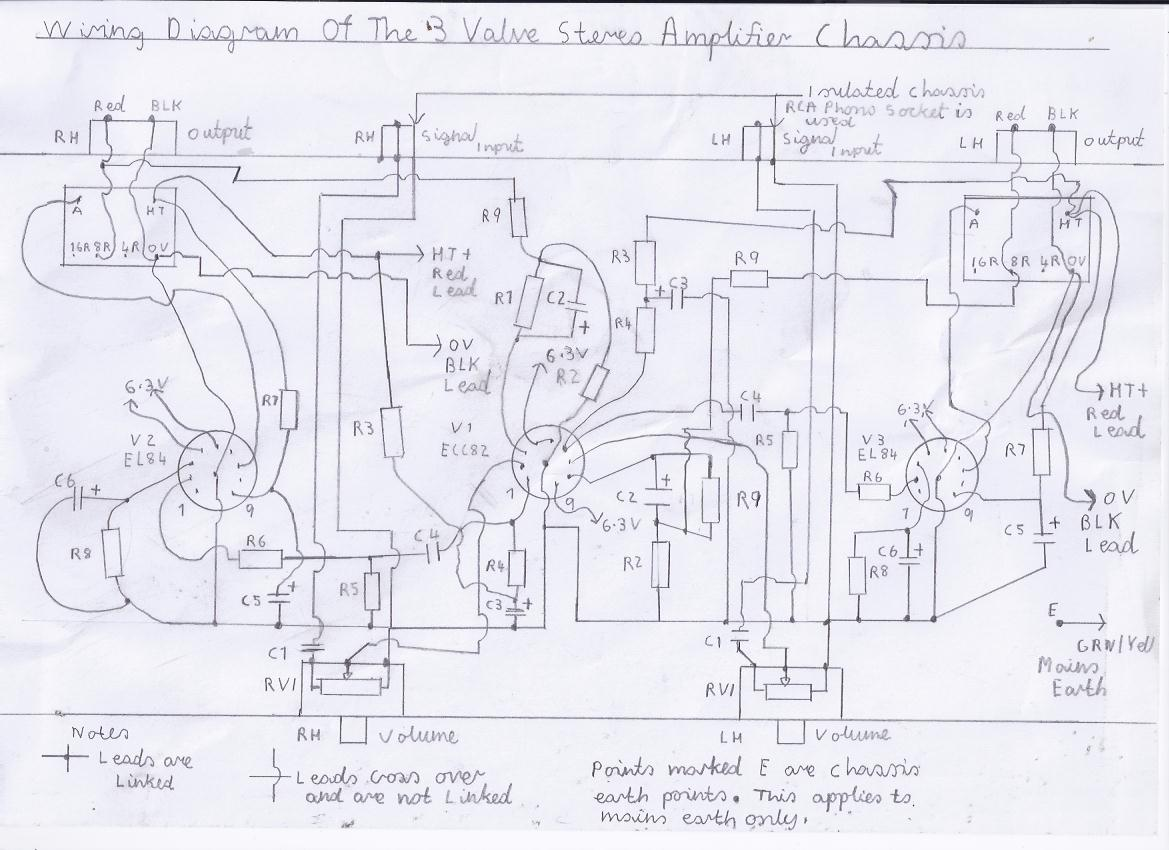 hight resolution of wiring diagram of the 3 valve stereo amplifier chassis please refer to picture 1 and components list for component values