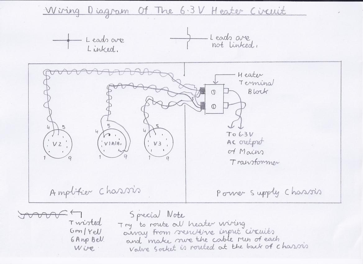 hight resolution of wiring diagram of the recommended 6 3v valve heater configuration this part of the wiring is best done first to save a fiddly job later