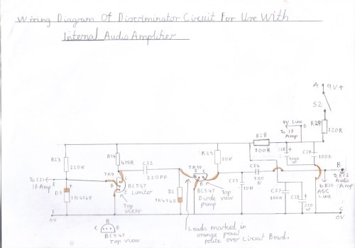 small resolution of wiring diagram of pulse counting discriminator for use with the internal lm386 audio amplifier