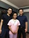 Dentist Andrew Ta and Austin Wu with Dental Hygienist Jinky Marsh
