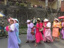 The seniors, garbed in colourful dresses and beautiful hats, took to the streets and joined the four-hour parade.