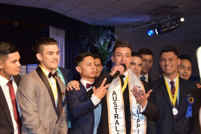 Robert McNamara, winner of Mister Philippines Australia, thanks his family and friends for the support.