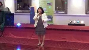 Marisa Vedar presents Gawad Kalinga's Kusina ng Kalinga. (Photo credit:  Jovy Anne)