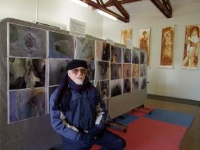 Roces in one of his art exhibits