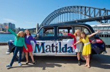Matilda's Georgia, Bella, Sasha and Molly in Sydney. Credit DNSW and James Morgan