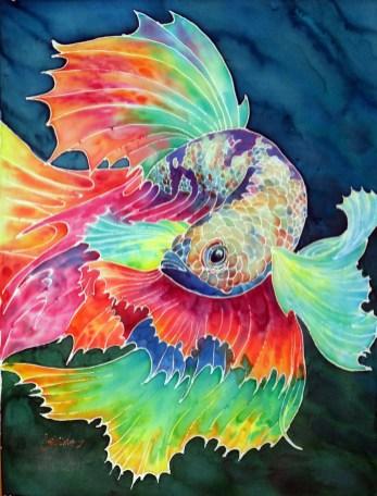Beta fish 18x24