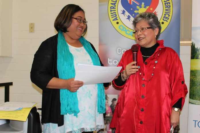 AFCS Manager Norminda Forteza and AFCS Chairperson Cynthia Norton.