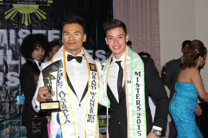 Jam Acero with last year's Mister Philippines Australia winner Rob Mcnamara
