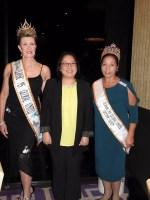 L-R - Ms. Classic Global United International Robbie Canner, Consul-General Anne and Ms. Global United International Ambassador and Lifetime Queen, Fil-Oz President Cora Bojarski.