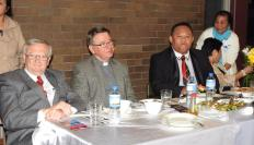 L-R - Seated -Paul Lynch State MP for Liverpool, Father Paul Parish Priest All Saints, Jhun Salazar and Sarah Salazar