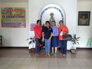 Donation to St. Vincent de Paul Home for Aged, Bacolod City