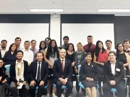 Filipino-Australian students with Honorary Consul Felix Pintado and Ambassador Minda Cruz