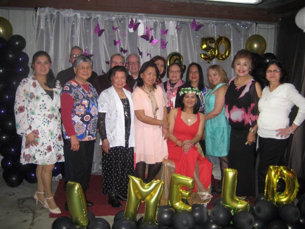 Imelda Egan with friends