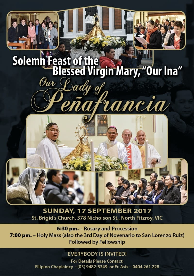 Feast of Our Lady of Peñafrancia (Melbourne)