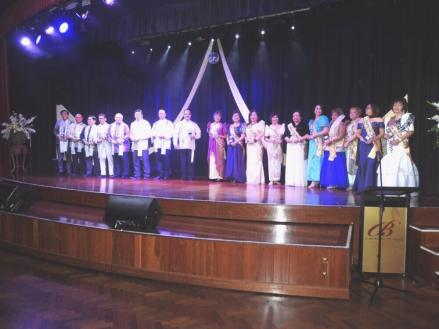 All the Honouree Mothers and Fathers for 2017 on stage for the Presentation Awards, at the Tribute to Mothers and Fathers Night 2017.