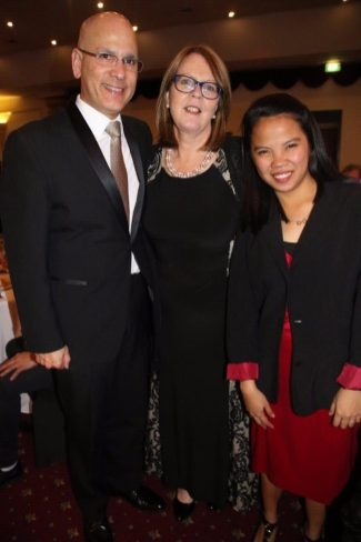 Philippine Honorary Consul to Victoria Felix Pintado with wife, Di Pintado and GK entrepreneur Micelim Geloso