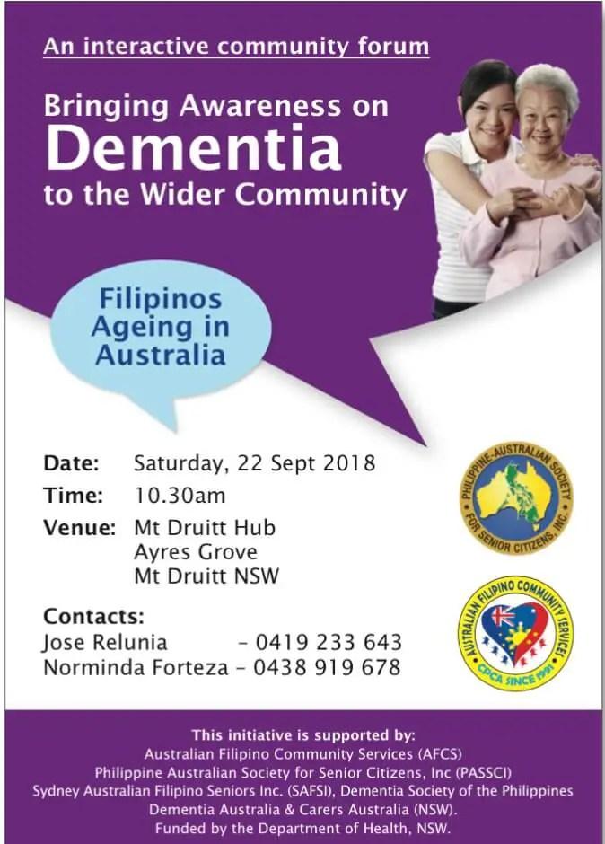Bringing awareness on dementia