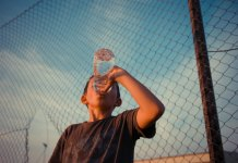 Drink lots of water in Summer