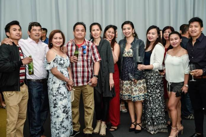 Employees and guests at La Naval's 20th Anniversary.