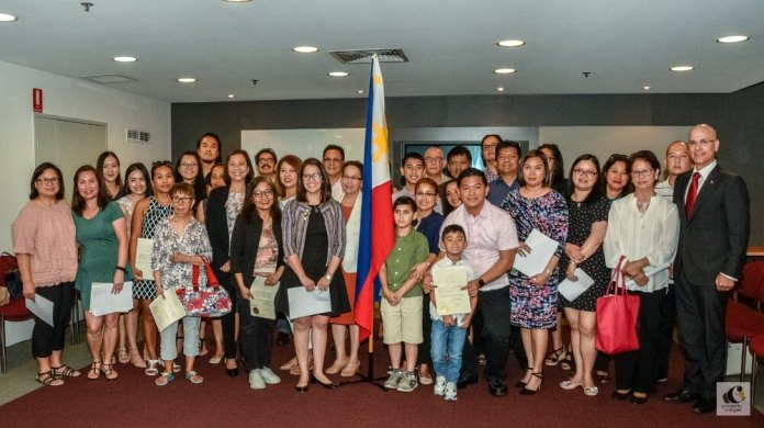 This is the first batch of over 60 individuals who took oath having reacquired their Filipino citizenship.