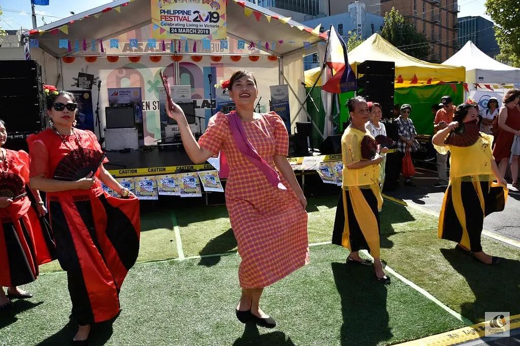 Filipino Association of Ballarat dancers at the Philippine Festival 2019