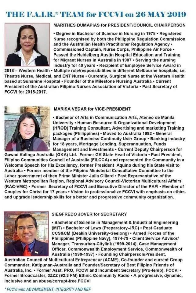 Fccvi candidates