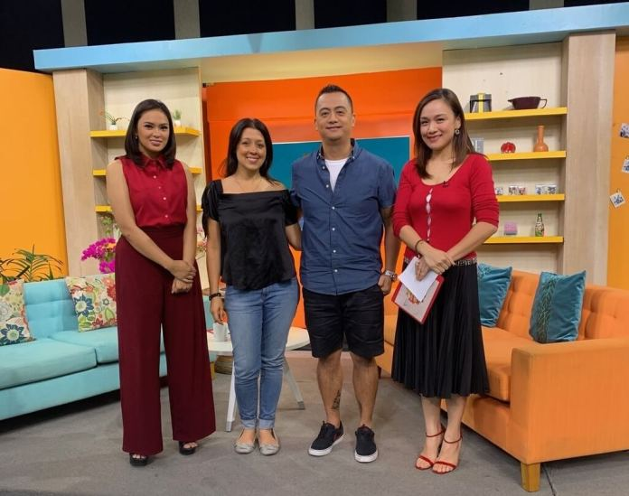 Christian Bulos with PTV4 presenters