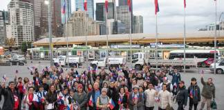Flag raising ceremony at FedSquare 2019