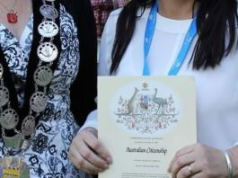 Australian citizenship oath-taking