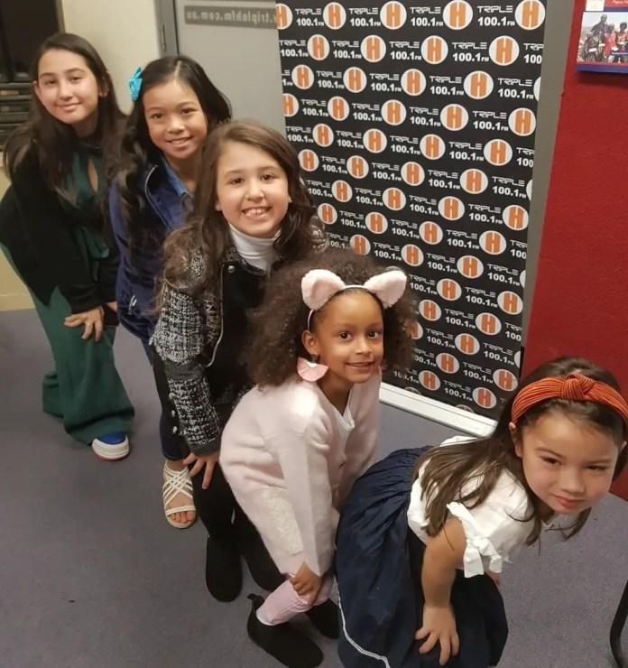 RG mini models at Triple H radio: Samantha Porsha Pepic, Ysabella Beatrice Alfonso, Ava Da Silva, Aliza Kamara and Aurora McEvoy