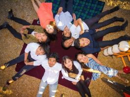 Family photo: Raine (striped blue dress), Marian Cabral (mother), Kenneth Joshua, Keiser Lance, Karol John, Kim Gail, Kristoff James, Kurt Leighton and Michael Laysico. | Photo by Valsite Imprints Photography and Films