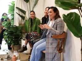 From left: Darlene Ladio, Kimberly Cruz and Marie De Vera