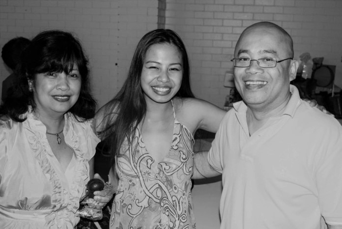 Taken in 2008: L- R: Evelyn Palmon, Raine, Boyet Palmon