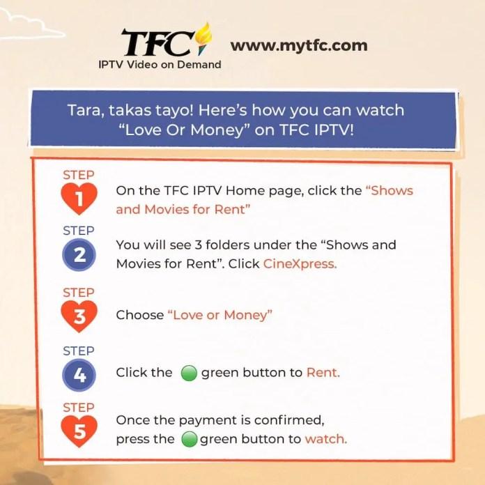 Love or Money TFC IPTV Japan, AU, and NZ