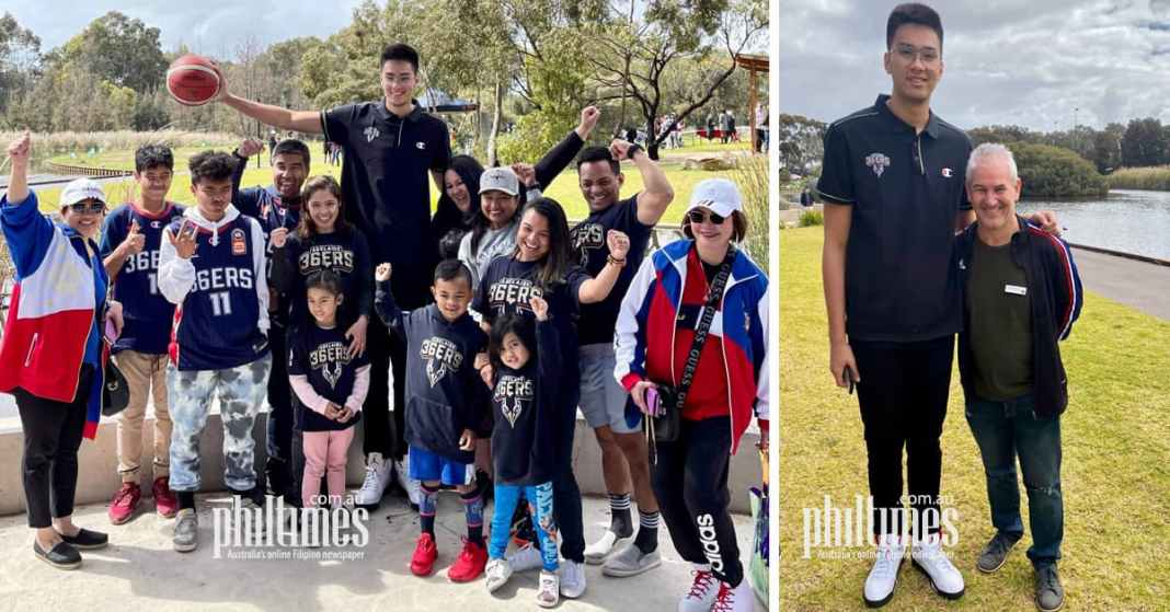 Kai Sotto with the Filipino Community in Adelaide