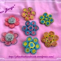 Souvenir Bros Bunga dari Kertas Koran