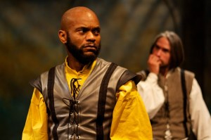 Forrest McClendon and J Hernandez star as Othello and Iago in Philadelphia Shakespeare Theatre's OTHELLO (Photo credit: Chris Miller)