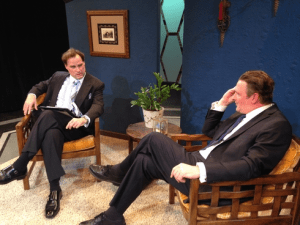 Russ Widdall and Dan Olmstead star in the title roles of New City Stage Company's FROST/NIXON (Photo credit: Courtesy of New City Stage Company)