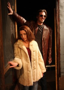 Eric Wunsch is Vince and Gina Martino is Shelly in Iron Age Theatre's BURIED CHILD (Photo credit: Randall Wise)