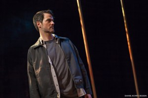 Allen Radway as Terry  in Simpatico Theatre Project's production of IN A DARK DARK HOUSE by Neil LaBute. Photo credit: by Daniel Kontz.