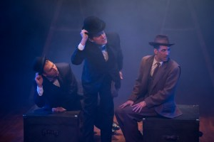 Adam Altman, Steve Pacek, and Damon Bonetti in Hitchcock's THE 39 STEPS at Theatre Horizon.