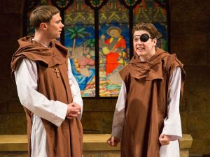 Josh Carpenter and Michael Doherty in Arden Theatre Company's Incorruptible by Michael Hollinger. Photo by Mark Garvin