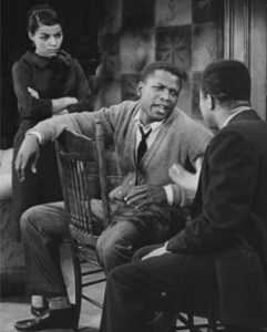 Lorraine Hansberry's A Raisin in the Sun opened at the Walnut on January 26, 1959. Starring (from left) Ruby Dee, Sidney Poitier, and Lonne Elder III. (Photograph courtesy of the Theatre Collection, Free Library of Philadelphia.)