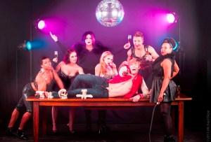 The ensemble (l to r: Avery Royal, Ilana Gabrielle, Erik Ransom, Aurora Black, Glen North, Courter Simmons, Ashanti J'Aria) of Libertine Idol Productions' COMING (Photo credit: Michael Blase)